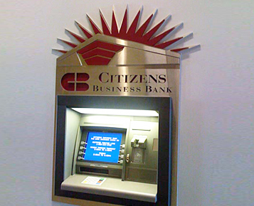 Citizens Business Bank Arena Channel Letter Signs