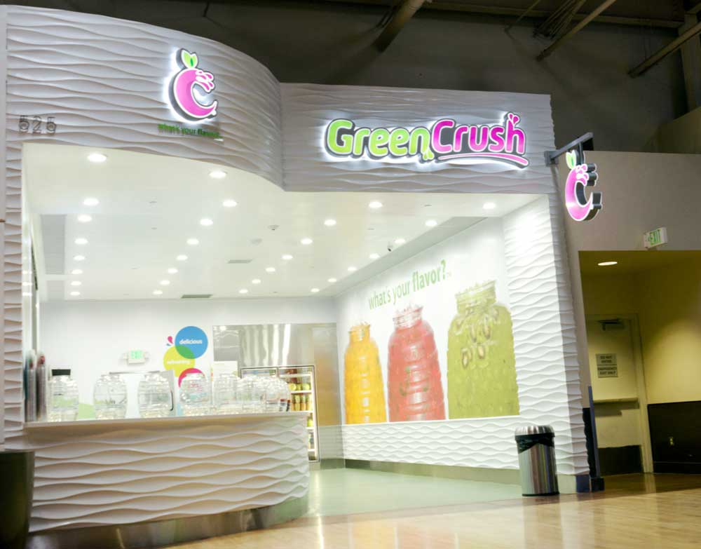 Green Crush Channel Letter Signs