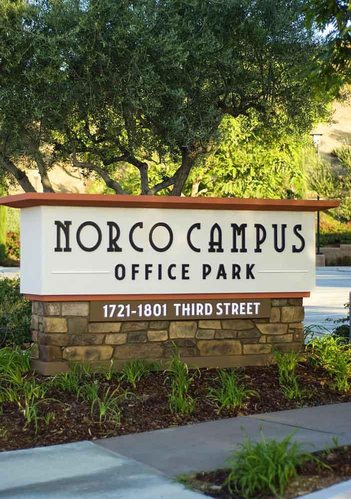 Norco Campus Monument Inland Signs San Bernardino