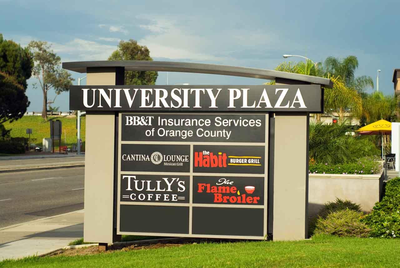 University Plaza Monument Inland Signs San Bernardino